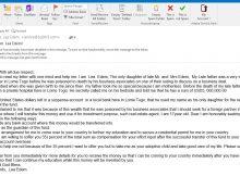 Phishing Email - Miss. Lea Edem