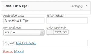 Title Attributes In WordPress Menus