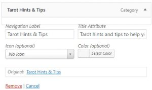 WordPress Menu Title Attribute